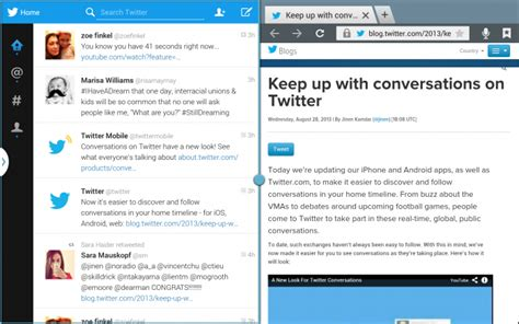 Twitter Home Screen Template by Twitter Launches An Android Tablet Optimized App For The