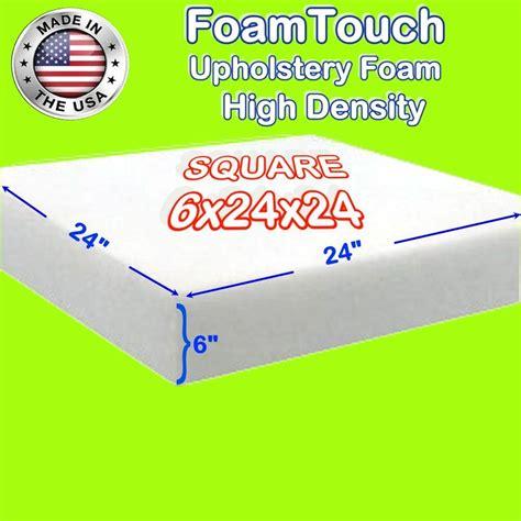 High Density Upholstery Foam by High Density Foamtouch Upholstery Foam Cushion 6 Quot X 24 Quot X