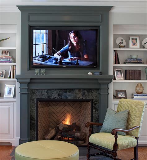 fireplace designs with tv above placing a tv your fireplace a do or a don t 8935