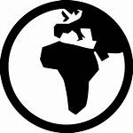 Icon Globe Africa Europe Planet Svg Earth