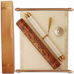 wedding scroll cards round box scroll39s scroll wedding With indian wedding invitations in a box