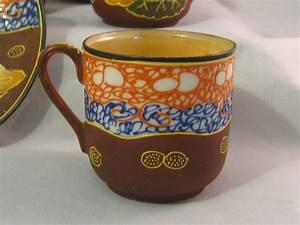 6 Vintage Takito Satsuma Moriage Tea Cup and Saucer Set ...