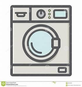Waschmaschine Stinkt Von Innen : bunte linie ikone haushalt der waschmaschine vektor ~ Markanthonyermac.com Haus und Dekorationen