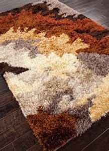 amazoncom redorange abstract pattern shag rug  area