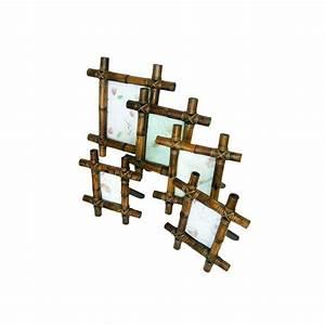 Lot De Cadre : lot de 5 cadres en bambou ~ Teatrodelosmanantiales.com Idées de Décoration