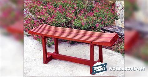 outdoor bench plans woodarchivist