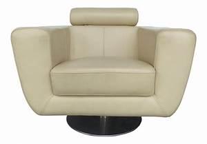 Modern, Beige, Leather, Swivel, Club, Chair