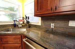 slate backsplash - Cabinet Lighting Ideas Kitchen