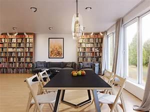White Cabinets Kitchen Design Side Living Room - Decobizz com