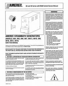 Steambath Generator Ak7 Manuals