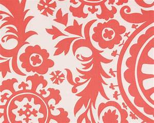 Fabric by the Yard Coral Suzani Premier Prints