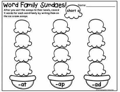 Word Words Sheet Kindergarten Short Write Freebies