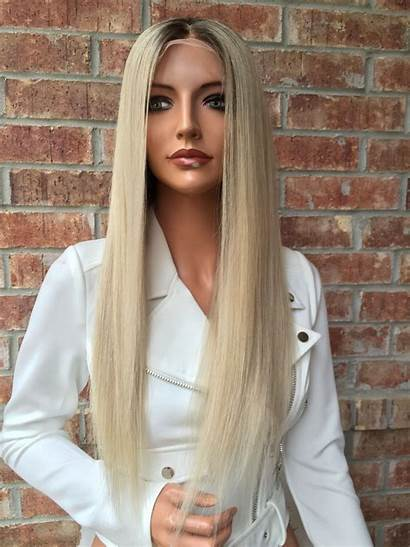 Blonde Hair Wig Lace Wigs Human Ash