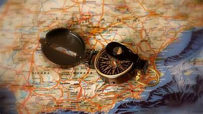 Travel Map Spain Compas Quotes Wallpapers Compass