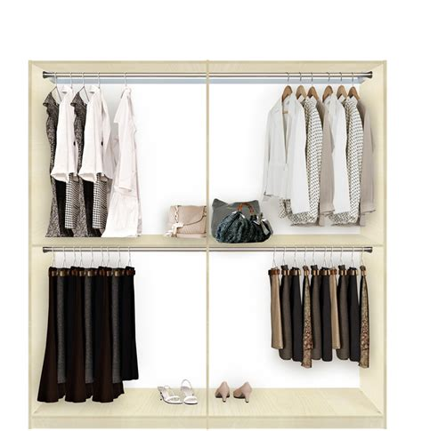 Isa Custom Closet For Hanging Clothes  Double Double