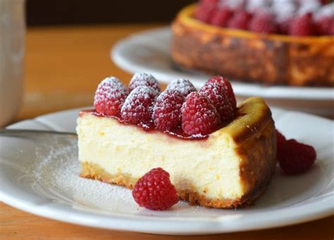 ricotta cheesecake  fresh raspberries    chef