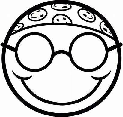 Coloring Smiley Face Silly Hippie