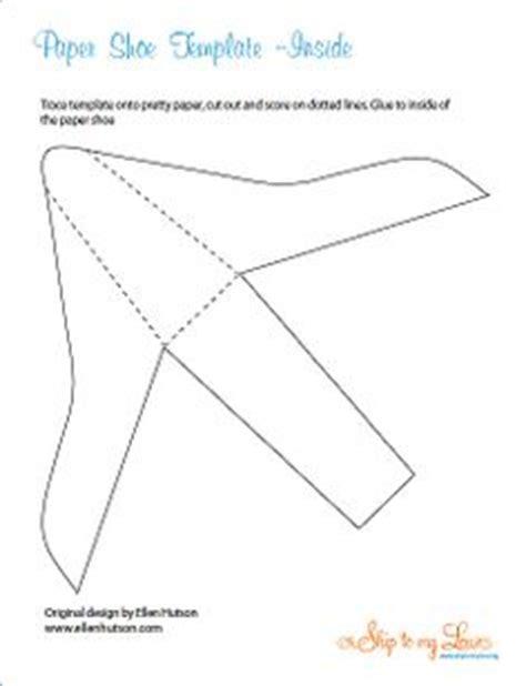 High Heel Paper Shoe Template