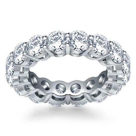 5 00 ct ladies round cut diamond eternity wedding band