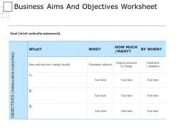 Aims Objectives Powerpoint Templates