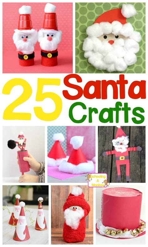 delightful and adorable santa claus crafts for 912 | santa claus crafts pin