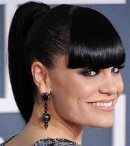 Black Women Ponytail Hairstyles with Bangs
