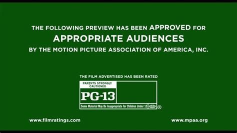 Rated PG 13 MPAA Trailer IDs logo (2013) Bumpers - YouTube
