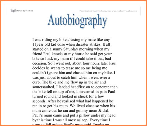 Biography Sle by How To Write Biography And Autobiography 8 My Biography