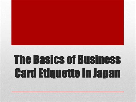 The Basics Of Business Card Etiquette In Japan Business Model Canvas Reddit Plans Pictures Journal Review Javascript Why Pengertian Template Free Download