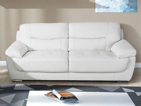 ou jeter un canapé canapé 2 ou 3 places en simili blanc chocolat ou taupe