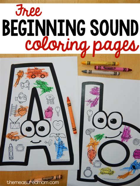 Free Beginning Sounds Worksheets (updated!)  The Measured Mom