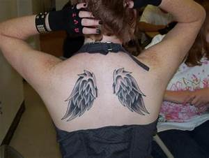 Cute Angel Wing Tattoo Designs