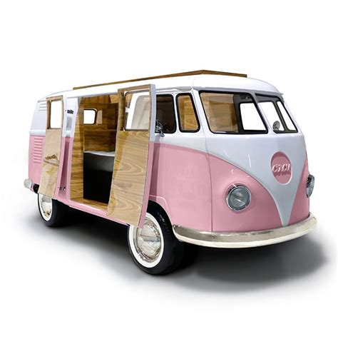 van volkswagen pink limited edition retro vw bus bed for kids in blue or pink