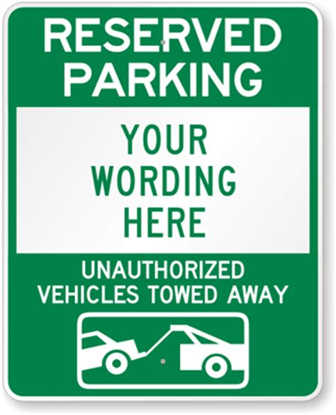 Reserved Parking Signs Template by Large No Parking Signs Custom Stock Templates
