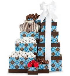 holiday chocolate gift tower christmas gift basket arttowngifts com