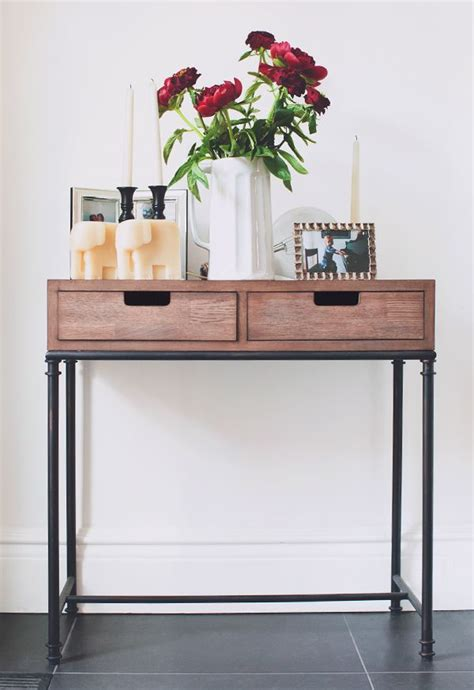 Entry Table With Drawers by Threshold Mixed Material 2 Drawer Console Table Patchwork