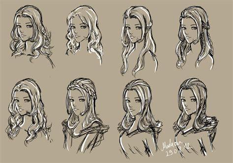 female hairstyles drawing  getdrawingscom