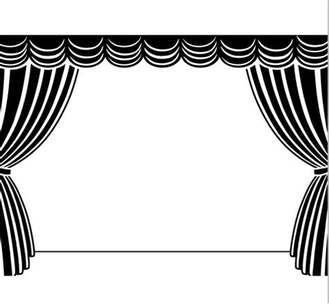 stage clipart black and white stage black and white clipart clipart suggest