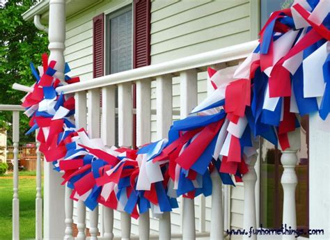 Diy Patriotic Outdoor Garland Living Room Color Design For Small House Pinterest Kids Rooms Interior Images Family And Kitchen Classic Dining Sets Pc Gaming The Laundry Ideas With Stacked Washer Dryer