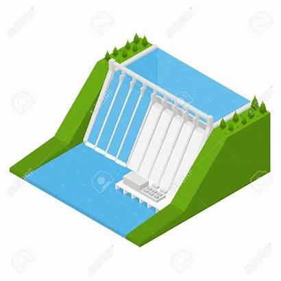 Clipart Hydel Energy Isometrische Hydro Hydroelectric Della
