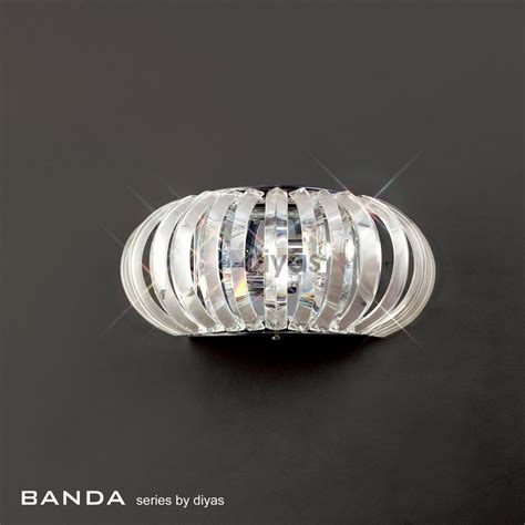diyas uk banda il30087 polished chrome crystal 2 light
