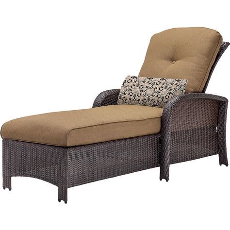 cambridge corolla wicker outdoor chaise lounge with