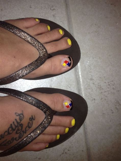 images  steelers nails  pinterest