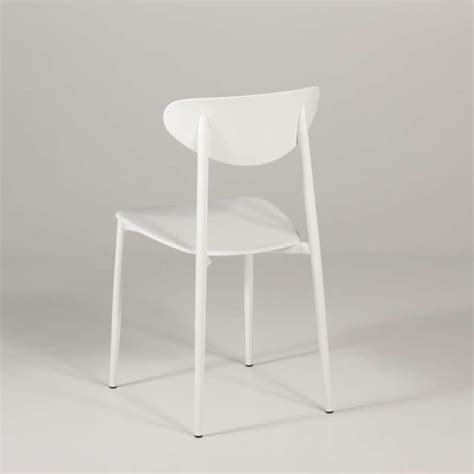 chaise de cuisine blanche chaise de cuisine en polypropylène blanche 4 pieds