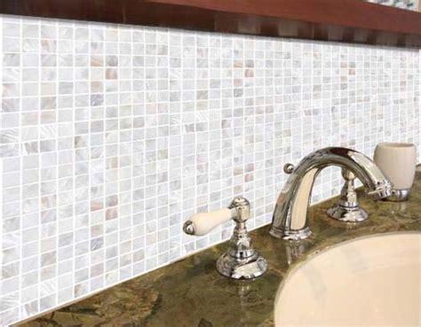 shell tiles kitchen backsplash tile mother  pearl mosaic