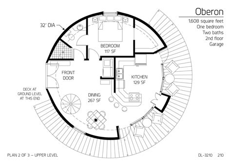 floor plan dl  monolithic dome institute