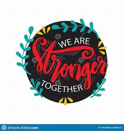 Stronger Together Clipart Dreamstime