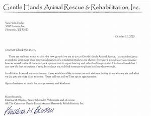 van horn auto group blog thank you letter from gentle With animal rescue donation request letter