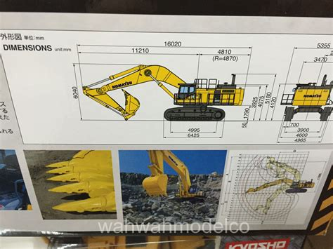 Harga Rc Excavator Kyosho kyosho komatsu pc1250 8 66002hg rc machinery hydraulic