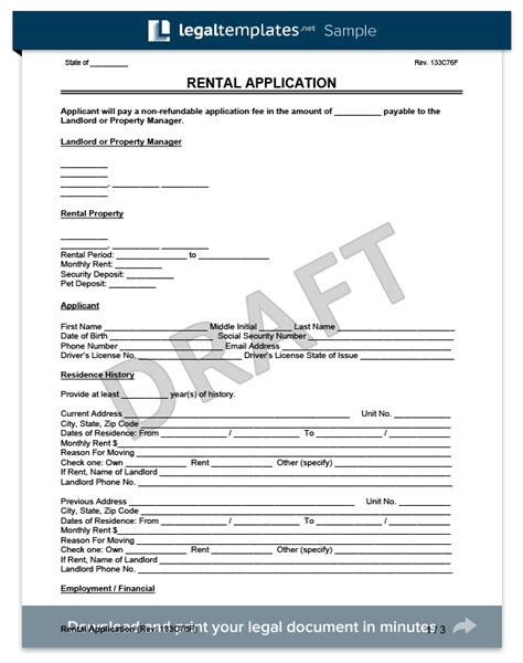 Rental Application Template Rental Application Form Create A Free Lease Application Form
